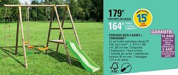 Promotion E Leclerc Portique Bois 3 Agres Toboggan Produit Maison E Leclerc Jouets Valide Jusqua 4 Promobutler