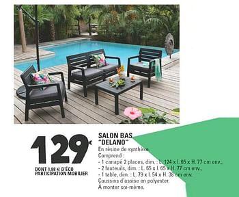Promotion E Leclerc Salon Bas Delano Produit Maison E Leclerc Jardin Et Fleurs Valide Jusqua 4 Promobutler