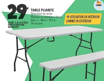 57 Table De Jardin Plastique Leclerc Background
