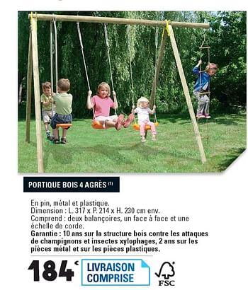 Promotion E Leclerc Portique Bois 4 Agres Produit Maison E Leclerc Jouets Valide Jusqua 4 Promobutler