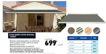 Promotion E Leclerc Store Banne Coffre Integral Lisboa Produit Maison E Leclerc Jardin Et Fleurs Valide Jusqua 4 Promobutler