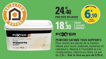 Promotion E Leclerc Peinture Satinee Tous Supports Foxter Interieur Decoration Valide Jusqua 4 Promobutler