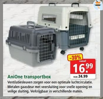 Promotion Maxi Zoo Anione Transportbox Anione Animaux Accessoires Valide Jusqua 4 Promobutler