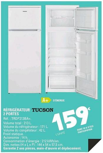 Promotion E Leclerc Refrigerateur Tucson 2 Portes Trdp213ba Tucson Appareils Electriques Valide Jusqua 4 Promobutler