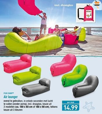 Fun Camp Air lounger - Promotie bij Aldi