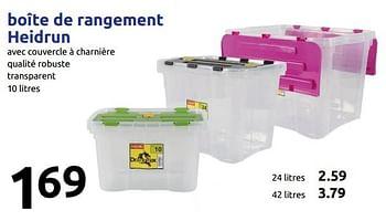 Promotion Action Boite De Rangement Heidrun Heidrun Menage Valide Jusqua 4 Promobutler