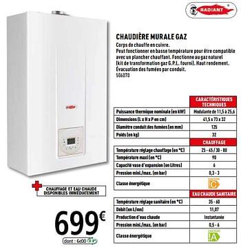 Promotion Brico Depot Chaudiere Murale Gaz Radiant Chauffage Et Climatisation Valide Jusqua 4 Promobutler
