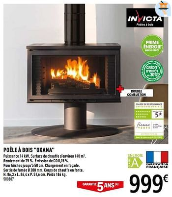 Promotion Brico Depot Poele A Bois Invicta Chauffage Et Climatisation Valide Jusqua 4 Promobutler