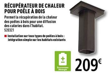 Promotion Brico Depot Recuperateur De Chaleur Pour Poele A Bois Produit Maison Brico Depot Chauffage Et Climatisation Valide Jusqua 4 Promobutler