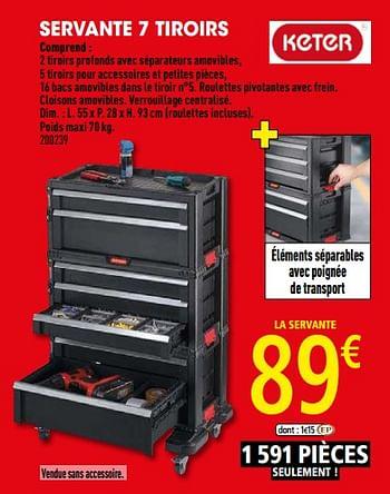 Promotion Brico Depot Servante 7 Tiroirs Keter Bricolage Valide Jusqua 4 Promobutler