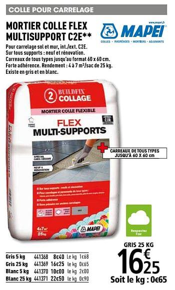 Promotion Brico Depot Mortier Colle Flex Multisupport C2e Mapei Bricolage Valide Jusqua 4 Promobutler