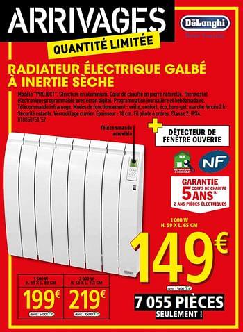 Promotion Brico Depot Radiateur Electrique Galbe A Inertie Seche Delonghi Chauffage Et Climatisation Valide Jusqua 4 Promobutler