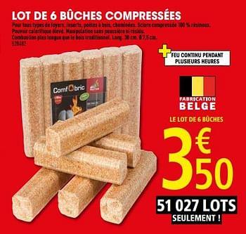 Promotion Brico Depot Lot De 6 Buches Compressees Produit Maison Brico Depot Chauffage Et Climatisation Valide Jusqua 4 Promobutler