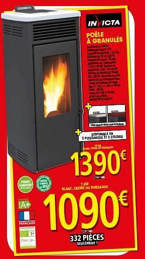 Promotion Brico Depot Poele A Granules Invicta Chauffage Et Climatisation Valide Jusqua 4 Promobutler