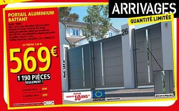 Promotion Brico Depot Portail Aluminium Battant Udine Produit Maison Brico Depot Jardin Et Fleurs Valide Jusqua 4 Promobutler