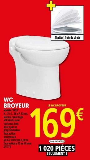 Promotion Brico Depot Wc Broyeur M53 Produit Maison Brico Depot Construction Renovation Valide Jusqua 4 Promobutler