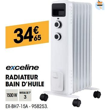 Promotion Electro Depot Exceline Radiateur Bain D Huile Ex Bh7 15a Exceline Chauffage Et Climatisation Valide Jusqua 4 Promobutler