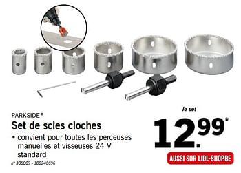 Promotion Lidl Set De Scies Cloches Parkside Bricolage Valide Jusqua 4 Promobutler