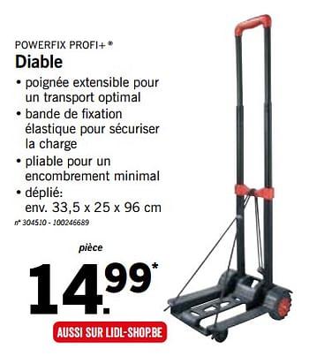Promotion Lidl Diable Powerfix Bricolage Valide Jusqua 4 Promobutler