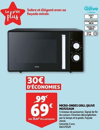 Promotion Auchan Ronq Qilive Micro Ondes Grill Qilive Mg925agn Qilive Appareils Electriques Valide Jusqua 4 Promobutler