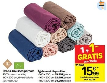 Promotion Carrefour Draps Housses Percale Tex Menage Valide Jusqua 4 Promobutler