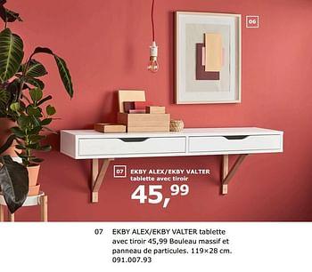 Promotion Ikea Ekby Alex Ekby Valter Tablette Avec Tiroir Produit Maison Ikea Meubles Valide Jusqua 4 Promobutler