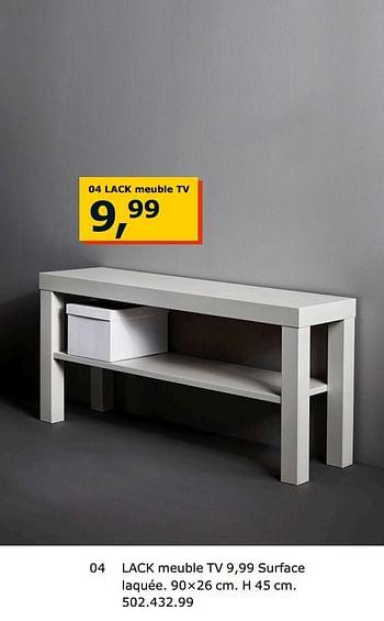 Promotion Ikea Lack Meuble Tv Produit Maison Ikea Meubles Valide Jusqua 4 Promobutler
