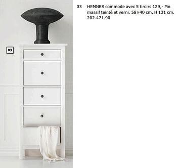 Promotion Ikea Hemnes Commode Avec 5 Tiroirs Produit Maison Ikea Meubles Valide Jusqua 4 Promobutler