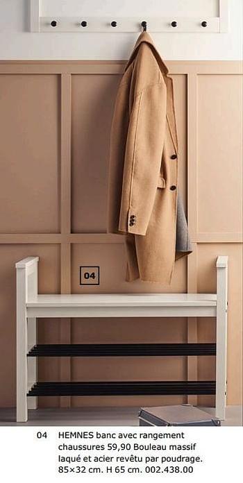 Promotion Ikea Hemnes Banc Avec Rangement Chaussures Produit Maison Ikea Meubles Valide Jusqua 4 Promobutler