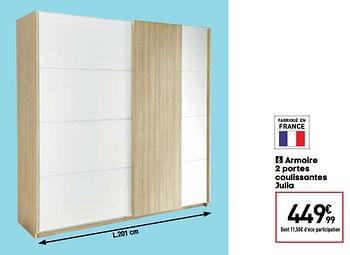 Promotion Conforama Armoire 2 Portes Coulissantes Julia Produit Maison Conforama Meubles Valide Jusqua 4 Promobutler