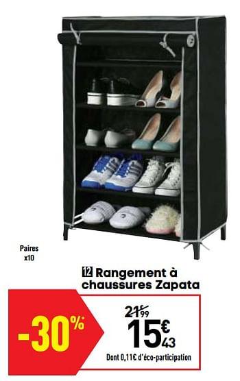 Promotion Conforama Rangement A Chaussures Zapata Produit Maison Conforama Meubles Valide Jusqua 4 Promobutler