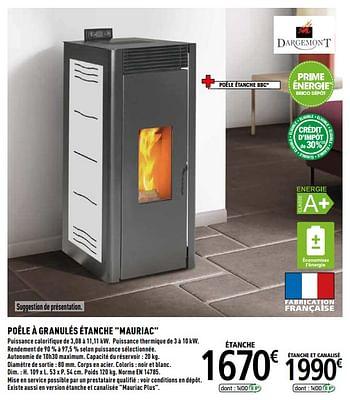 Promotion Brico Depot Dargemont Poele A Granules Etanche Mauriac Dargemont Chauffage Et Climatisation Valide Jusqua 4 Promobutler