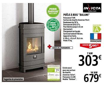 Promotion Brico Depot Invicta Poele A Bois Balami Invicta Chauffage Et Climatisation Valide Jusqua 4 Promobutler
