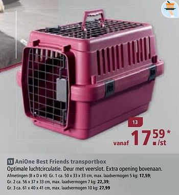 Promotion Maxi Zoo Anione Best Friends Transportbox Anione Animaux Accessoires Valide Jusqua 4 Promobutler
