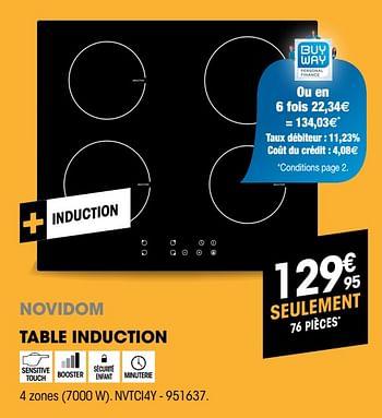 Table De Cuisson Pas Chere Plaque De Cuisson Electro Depot