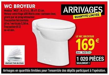 Promotion Brico Depot Wc Broyeur Produit Maison Brico Depot Construction Renovation Valide Jusqua 4 Promobutler
