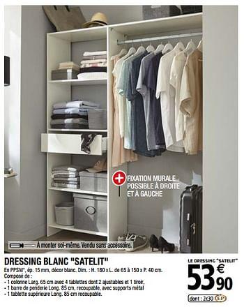 Promotion Brico Depot Dressing Blanc Satelit Produit Maison Brico Depot Meubles Valide Jusqua 4 Promobutler