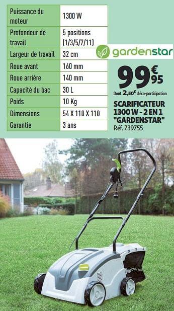 Promotion Auchan Ronq Gardenstar Scarificateur 1300 W 2 En 1 Gardenstar Gardenstar Jardin Et Fleurs Valide Jusqua 4 Promobutler