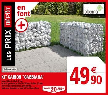 Promotion Brico Depot Kit Gabion Gabbiana Produit Maison Brico Depot Jardin Et Fleurs Valide Jusqua 4 Promobutler