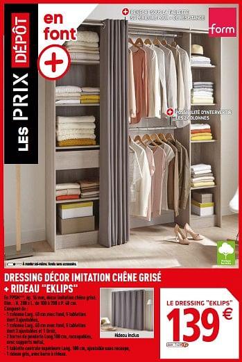 Promotion Brico Depot Dressing Decor Imitation Chene Grise Rideau Eklips Produit Maison Brico Depot Meubles Valide Jusqua 4 Promobutler