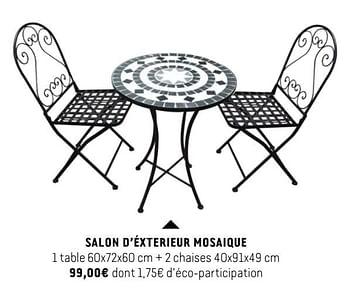 Promotion Babou Salon D Exterieur Mosaique Produit Maison Babou Jardin Et Fleurs Valide Jusqua 4 Promobutler