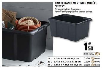 Promotion Brico Depot Bac De Rangement Noir Modele Fitty Produit Maison Brico Depot Menage Valide Jusqua 4 Promobutler