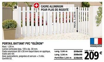 Promotion Brico Depot Portail Battant Pvc Oleron Produit Maison Brico Depot Jardin Et Fleurs Valide Jusqua 4 Promobutler
