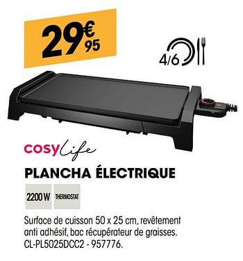 Promotion Electro Depot Cosylife Plancha Electrique Cl Pl5025dcc2 Cosylife Appareils Electriques Valide Jusqua 4 Promobutler