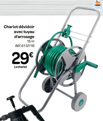 Promotion Carrefour Chariot Devidoir Avec Tuyau D Arrosage Produit Maison Carrefour Jardin Et Fleurs Valide Jusqua 4 Promobutler