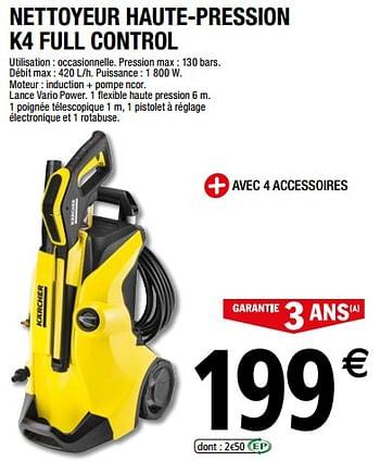 Promotion Brico Depot Karcher Nettoyeur Haute Pression K4 Full Control Karcher Bricolage Valide Jusqua 4 Promobutler