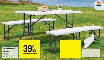 Promotion Carrefour Table Festive Pliante Produit Maison Carrefour Jardin Et Fleurs Valide Jusqua 4 Promobutler