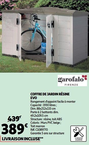 Promotion Auchan Ronq Coffre De Jardin Resine Evo Garofalo Jardin Et Fleurs Valide Jusqua 4 Promobutler