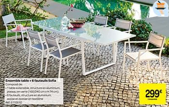 Promotion Carrefour Ensemble Table 6 Fauteuils Sofia Produit Maison Carrefour Jardin Et Fleurs Valide Jusqua 4 Promobutler