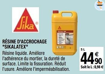 Promotion Brico Depot Resine D Accrochage Sikalatex Sika Construction Renovation Valide Jusqua 4 Promobutler